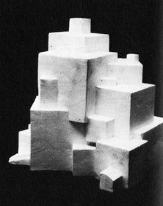 Johannes Itten, Foundation Course, Composition of Cubes, 1922