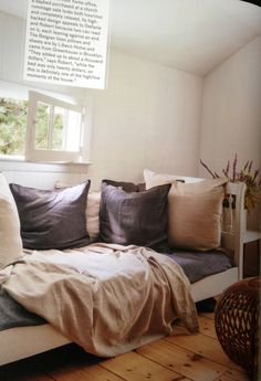 Cozy day bed #libeco linens
