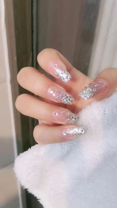 136 pretty nude &ombre acrylic and matte white nails design for short and long nails – page 1 Glam Nails, Diy Nails, Manicure, Fancy Nails, Diy Nail Designs, Acrylic Nail Designs, Sparkle Nail Designs, Jolie Nail Art, Wedding Nails Design