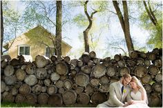 bride and groom portrait logs creative durango wedding photographers www.kellymirandaphotography.com