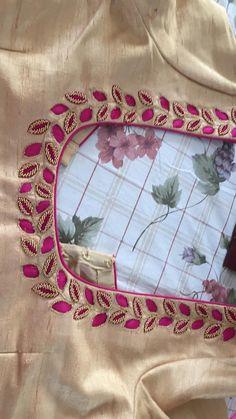 Cutwork Blouse Designs, Simple Blouse Designs, Stylish Blouse Design, Bridal Blouse Designs, Sleeves Designs For Dresses, Dress Neck Designs, Simple Embroidery Designs, Hand Work Embroidery, Maggam Work Designs