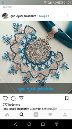 Moda Emo, Holiday Ornaments, Needlework, Piercings, Crochet Necklace, Shoulder Bag, Embroidery, Beads, Floral