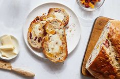 Apricot, Raisin & Pecan Bread   King Arthur Baking: A slightly tangy pre-fermented bread with fruits and nuts. Pecan Bread Recipe, Bread Recipes, Fermented Bread, Baking Stone, King Arthur Flour, Butter, Thing 1, Instant Yeast, White Bread