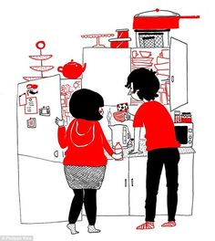 Like many couples Philippa and Luke have their tea-making rituals together...