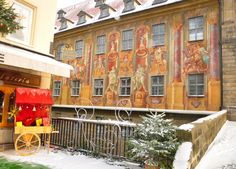 Unforgettable fresco in Bamberg, #Germany #travel #Christmas