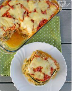 lasanha de abobobrinha sem farinha e gluten com recheio de atum e cream cheese