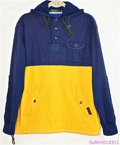RALPH LAUREN Polo Sweatshirt Hoodie Rugby Nautical 1/4 Zip Custom Utility NEW  #RalphLauren #Hoodie