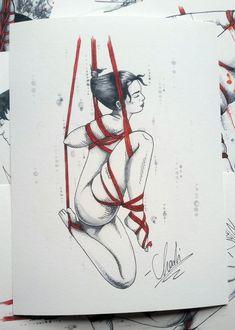 Easy and Quick Steps for Credit Repair Rope Drawing, Art Sketches, Art Drawings, Rope Art, Arte Obscura, Arte Pop, Comic, Erotic Art, Dark Art