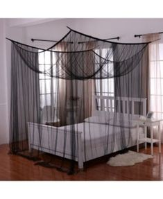 Transform your bed into a magical sanctuary with the Palace Four Poster Bed Canopy . This bed canopy can either be hung from the ceiling or mounted on.