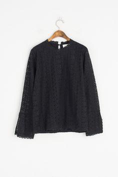 Olive - Whole Lace Slit Sleeve Blouse, Black, £49.00 (http://www.oliveclothing.com/p-oliveunique-20170118-005-black-whole-lace-slit-sleeve-blouse-black)