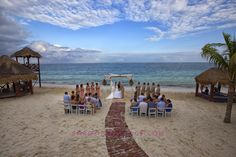 Erica & Scott. Destination Wedding. Azul Beach Hotel. Photography by Sarani | Sarani Weddings