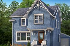 Photoshop Redo: Cottage Style for a Boxy Cape  An over-the-entry addition and decorative millwork add style to a plain facade—and space upstairs  EXTERIOR CURB APPEAL COTTAGE ADD CHARACTER