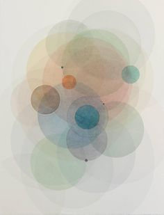 Day map 90214- Abstract geometric soft pastel color circles 1