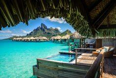 Having a Dip in the Pool in Bora Bora | Stuck in Customs