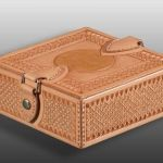 hand tooled square leatherbox