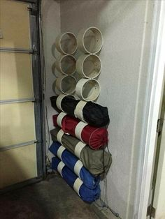 PVC pipe to store folding chairs