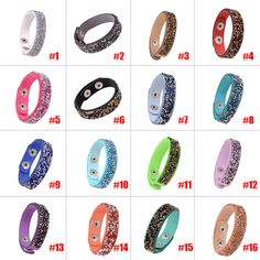 New Fashion Bracelets Jewelry Bracelet Crystal Rivet Wristband Bangle For Women Buttons Adjust Size  88 KQS #Affiliate