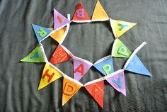 Handsewn felt Happy Birthday bunting banner by daisyanndesigns, $25.00