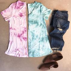 These Tie Dye shirts were just listed in the shop and believe me when I tell you, they are amazing!! Soft stretchy and comfortable! |Look for them under new arrivals| oliveandrust.com