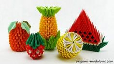 Modular Origami Fruits by origamimodulowe