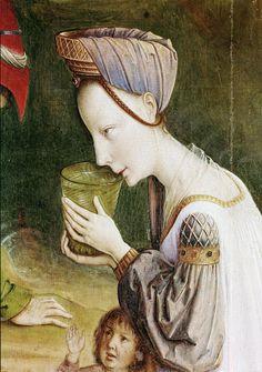 Justus van Gent - Calvary Triptych. Detail. 1465 - 1468