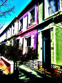 Ice cream coloured houses
