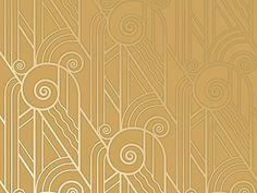 For the photo booth backdrop?Bradbury & Bradbury | Art Deco Wallpaper | Volute Wallpaper in Old Gold