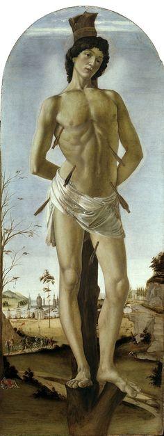 Sandro Botticelli, Der Hl. Sebastian, 1474 El martirio de San Sebatstián