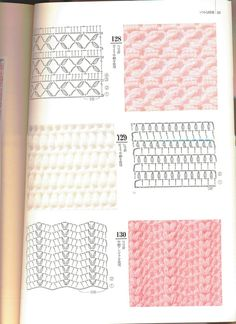 Irish lace, crochet, crochet patterns, clothing and decorations for the house, crocheted. Crochet Stitches Chart, Tunisian Crochet Patterns, Crochet Baby Dress Pattern, Knitting Stiches, Crochet Motifs, Granny Square Crochet Pattern, Crochet Diagram, Filet Crochet, Crochet Cord