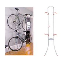 Bicycle Rack Steel Bike  Mount Gravity Garage Portable Organizer 2 Bikes Stand #Michelangelo