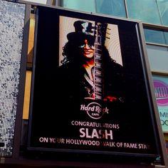 Slash on the walk of fame