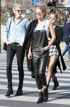 Gigi Hadid & Devon Windsor out and about in Paris, March 8, 2015.