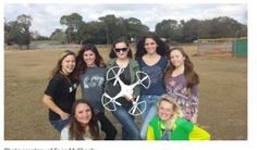 This is Florida Highs pink drone girl team. This article is awesome and gives you a taste for whats to come in 2017 with the drone world. Get out there and start flying ! We make it easy with BUY NOW PAY LATER finance option as low as 25$ per month. Now what are you waiting for. https://www.dynnexdrones.com/