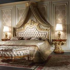 Amazing and Unique Victorian Bedroom Design Ideas. Applying Main Victorian Bedroom Design Ideas in your home can be very fun, especially for women, who dream to live like a queen. Most people prefer th. Baroque Bedroom, Royal Bedroom, Victorian Bedroom, Master Bedroom, Bedroom Bed, Queen Bedroom, Master Suite, Classic Bedroom Furniture, Modern Bedroom