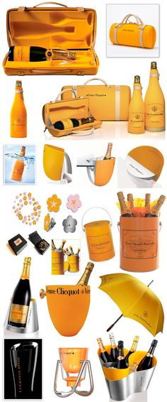 Veuve Clicquot and stylish wine accessories from one of the most widely recognized Champagne houses in the world. Champagne Cocktail, Sparkling Wine, Champagne Gift Baskets, Mets Vins, Veuve Cliquot, Cocktails, Wine Packaging, In Vino Veritas, Prosecco