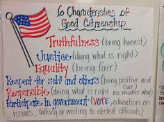citizenship bie so could have used this in my lesson two  anchor chart i made for the characteristics of being a good citizen