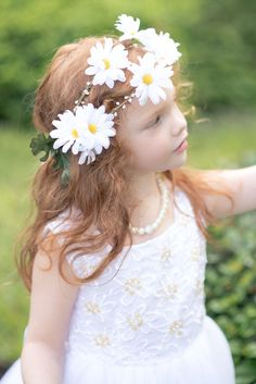 The Daisy Floral Halo  Flower Girl Collection  by StylemeJaime, $40.00