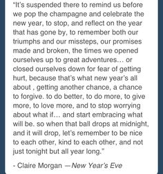 New Year's Eve movie quote (Hilary Swank's character)