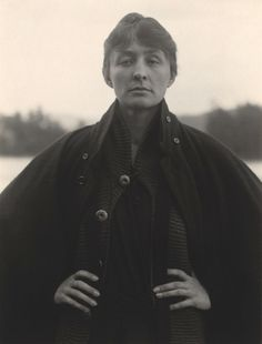 Describe Georgia O'Keeffe's expression in one word. Georgia O'Keeffe, Gelatin silver print. 4 x in. National Gallery of Art, Alfred Stieglitz Collection. Alfred Stieglitz, History Of Photography, Portrait Photography, Georgia O'keeffe, O Keeffe, Phillips Collection, Cecil Beaton, Pose For The Camera, Philadelphia Museum Of Art