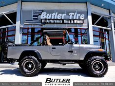 Jeep Scrambler with American Eagle 185 Wheels and BF Goodrich Tires and Lift Kit by Butler Tires and Wheels. Scrambler Custom, Ducati Scrambler, Scrambler Motorcycle, Jeep Cj7, Jeep Wrangler Rubicon, Jeep Wranglers, Jeep Pickup, Jeep Truck, Cool Jeeps