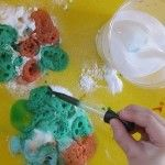 Colorful and bubbly science exploration with baking soda and vinegar