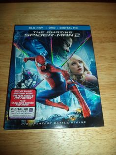 The Amazing Spider-Man 2 (Blu-ray/DVD, 2014, 3-Disc Set, Includes Digital...