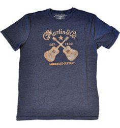 classic dueling Martin Guitars t-shirt