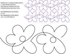 Flower Power Pantograph by Patricia Ritter / Urban Elementz PRPANTO47