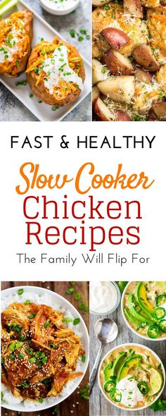 Healthy easy crockpot chicken recipes for your dump dinners this fall. mouthwatering slow cooker chicken recipes for thighs, breast boneless meat, Slow Cooker Chicken Healthy, Slow Cooker Shredded Chicken, Easy Crockpot Chicken, Healthy Crockpot Recipes, Slow Cooker Recipes, Chicken Recipes, Crockpot Meals, Cooking Recipes, Slow Cooking