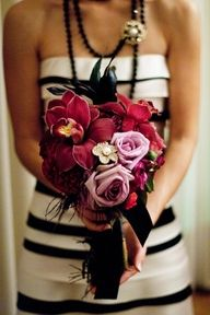 #bouquet - This colorful  one works well with a black an white theme