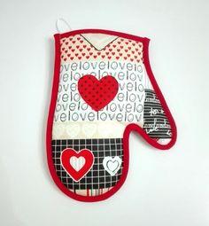 chňapka Love ♥ #valentin #valentyn #srdce #chnapka #kuchyna #kuchyn #handmade #laska