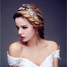 Headband mariage cristal Athena - ODAZZ Mariage