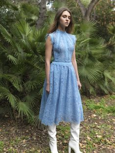 41 Mesh Bodice, Midi Gossamer Lace Dress with Cup Sleeves Fashion Outfits, Womens Fashion, Spring Outfits, Lace Dress, Ready To Wear, Casual, Autumn Fashion, Gowns, Summer Dresses