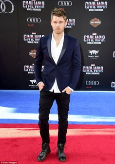 """Luke Mitchell Photos - Actor Luke Mitchell attends the premiere of Marvel's """"Captain America: Civil War"""" at Dolby Theatre on April 2016 in Los Angeles, California. - Premiere of Marvel's 'Captain America: Civil War' - Arrivals Lincoln Campbell, Luke Mitchell, Super Hero Shirts, Character Bank, Marvels Agents Of Shield, Captain America Civil War, Marvel Series, Actors, Guys"""